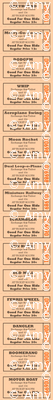 Midway    vintage ephemera fair carnival amusement park tickets