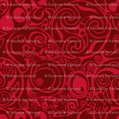 celtic pattern red