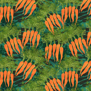 carrots on teal