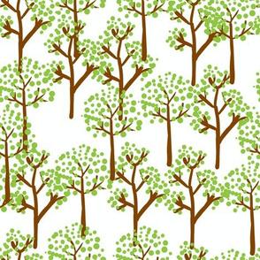 retro summer trees
