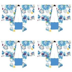 Kimono Blue Blossoms