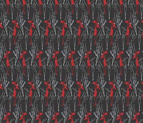 fashion_sktech_2 fabric by renelope on Spoonflower - custom fabric