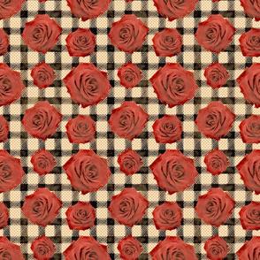 gingham roses