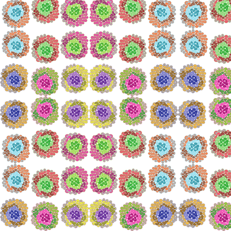 Flowers fabric by lpjones on Spoonflower - custom fabric