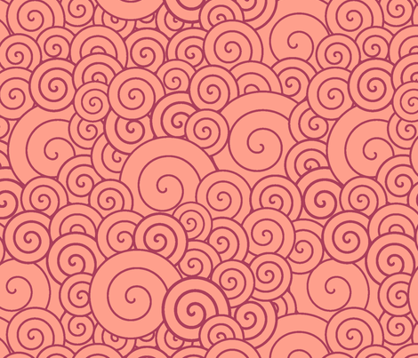 Pink spirals fabric by suziedesign on Spoonflower - custom fabric