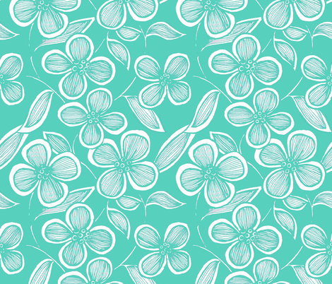 Flower flow fabric by myelephant on Spoonflower - custom fabric