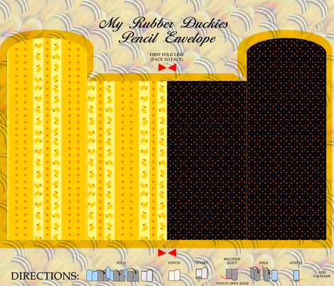 My Rubber Duckies Pencil Envelope fabric by glimmericks on Spoonflower - custom fabric