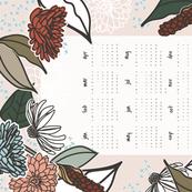 2017 Farmhouse Floral Tea Towel