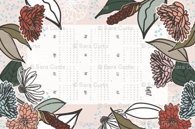 2019 Farmhouse Floral Tea Towel