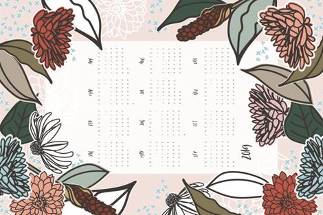 2019 Farmhouse Floral Tea Towel fabric by radianthomestudio on Spoonflower - custom fabric