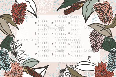 2018 Farmhouse Floral Tea Towel