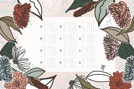 2018 Farmhouse Floral Tea Towel fabric by radianthomestudio on Spoonflower - custom fabric