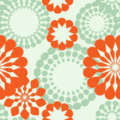 retro flower pattern