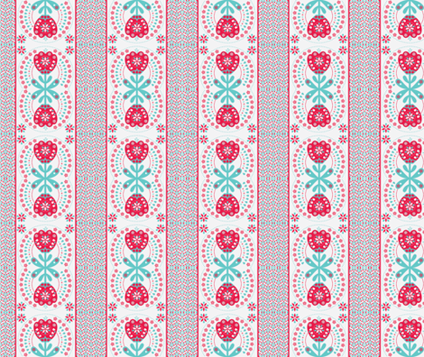 Lily Folk fabric by abloom on Spoonflower - custom fabric