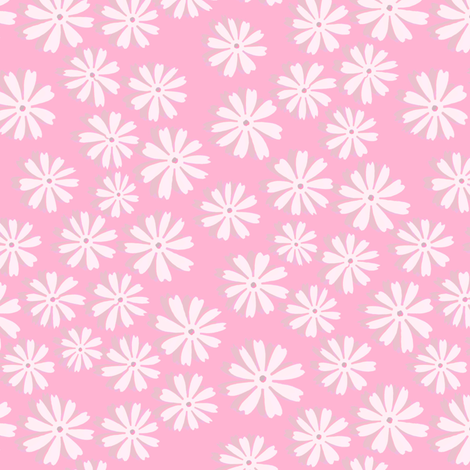 Sweet Meadow in Pink fabric by joanmclemore on Spoonflower - custom fabric