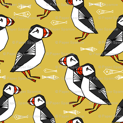 puffin // puffins birds mustard yellow birds scotland