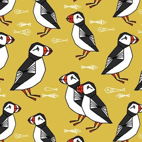 puffin // puffins birds mustard yellow birds scotland