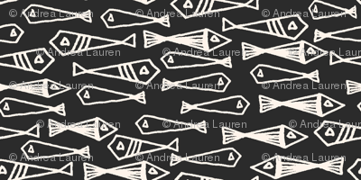 fish // geometric fish winter sea ocean