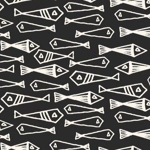 fish // geometric fish winter sea ocean