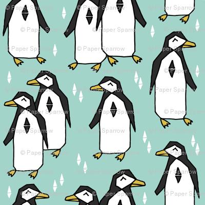 penguins // penguin pingu mint bird birds kids winter