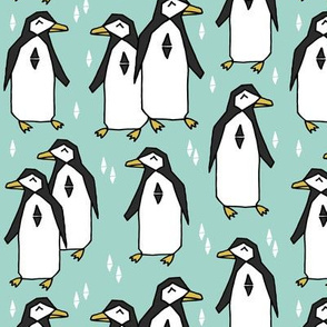 penguins // penguin pingu mint bird birds kids winter