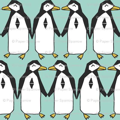 penguins // mint kids nursery baby penguin bird birds winter