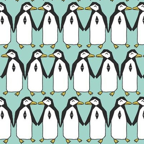 penguins // mint kids nursery baby penguin bird birds winter