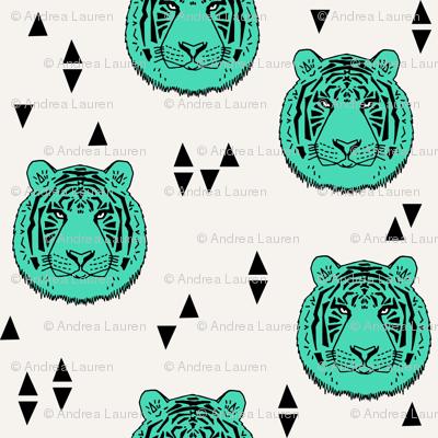 Tiger - Light Jade by Andrea Lauren