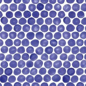 Felt Dots -Purple-Blue