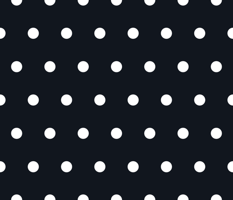 Polka Dot - White on Black fabric by juliesfabrics on Spoonflower - custom fabric