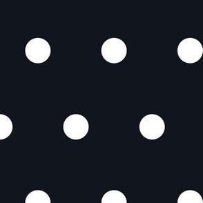 Polka Dot - White on Black