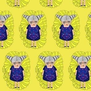Frida dreams (yellow)