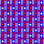 Red, White and Blue Stars and Hearts