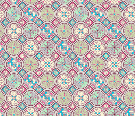 Haze - Circles fabric by reikahunt on Spoonflower - custom fabric