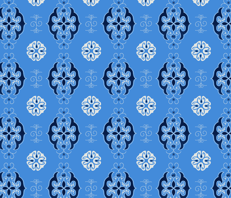 Midnight - Calm Blue fabric by reikahunt on Spoonflower - custom fabric