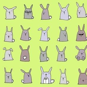 Bunnies (green)