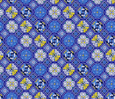 Midnight - Circles fabric by reikahunt on Spoonflower - custom fabric