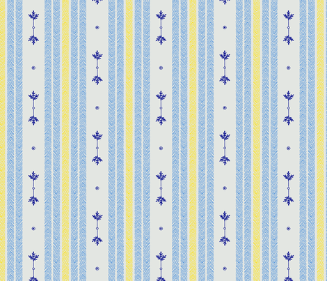 Midnight - Stripes Summer fabric by reikahunt on Spoonflower - custom fabric