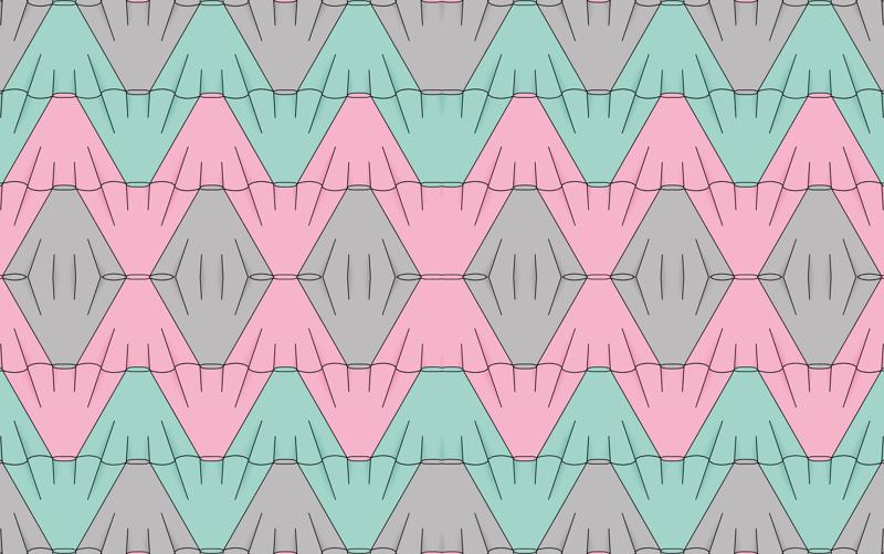 1857fba450 circle skirt tessellation chevron (pink wallpaper - victorialasher -  Spoonflower