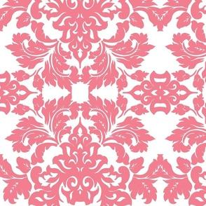 Pink Damask Wallpaper