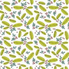 Ditsy Retro Branch - white