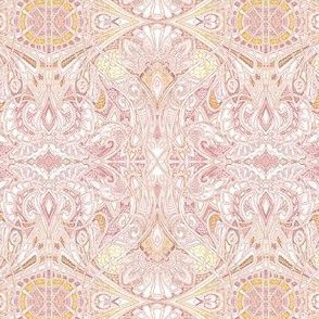 Victorian Orange Cream Paisley