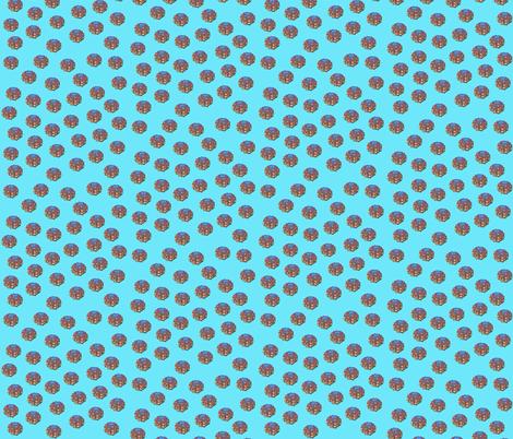 disco_urchin-_aqua fabric by bbusbyarts on Spoonflower - custom fabric