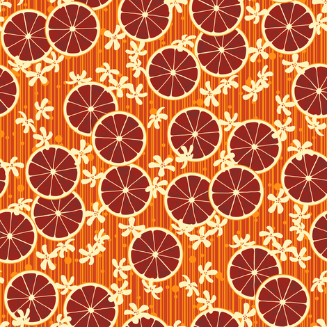 Blood Orange Allegria - small fabric by siya on Spoonflower - custom fabric