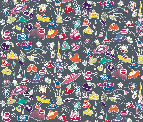 Fascinators fabric by elramsay on Spoonflower - custom fabric