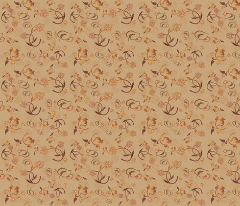Corral Wildflowers © Gingezel™ 2013 fabric by gingezel on Spoonflower - custom fabric