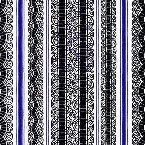 Woodcut Stripe-Blue
