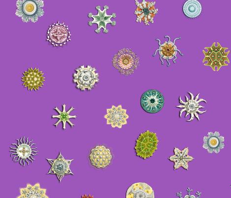 diatom_dot_purple fabric by bbusbyarts on Spoonflower - custom fabric
