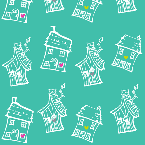 homesweethome3 fabric by fat_bird_designs on Spoonflower - custom fabric