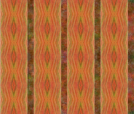 Bristles Orange  fabric by ann~marie on Spoonflower - custom fabric